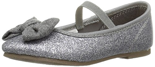 Carter's Girls' Randers Ballet Flat, Grey, 5 M US Toddler
