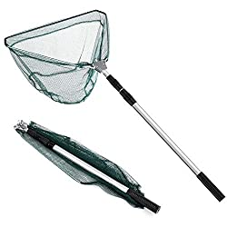 "multi purpose telescopic fishing nets ARESUN Fishing Net, 67 ""Fly Net (Aluminum with Telescopic Handle, Easy to Catch and Loose), Durable Nylon Crab Net Foldable Crab Net For Catch or Loose"