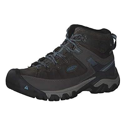 KEEN Women's Targhee 3 Mid Waterproof Hiking Boot, Magnet/Atlantic Blue , 7 M (Medium) US