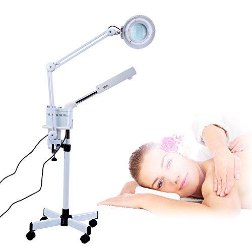Vaporizador facial 2 en 1 y lámpara de lupa, limpieza en profundidad, sauna facial hidratante SPA, dispositivo de vapor, belleza para la cara, limpieza de la piel, herramienta