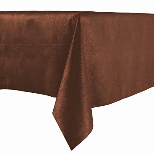 Lot de 20 nappes en papier marron 100 x 100 cm tissu non tissé en papier à sec similaire au tissu nappe