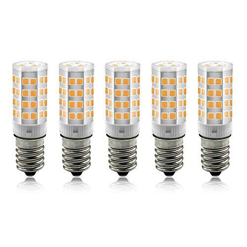 BeiLan E14 LED Lampe Warmweiß 3000K, 3W /240LM Glühbirne Ersatz 30W Halogenlampen, 360° Abstrahlwinkel für Kronleuchter, Wandlampe, Kühlschrank und Dunstabzugshaube, 5er Pack