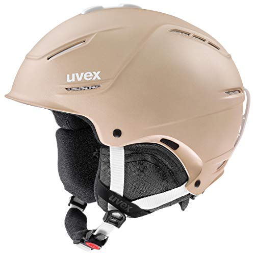 uvex Unisex– Erwachsene, p1us 2.0 Skihelm, prosecco met mat, 52-55 cm