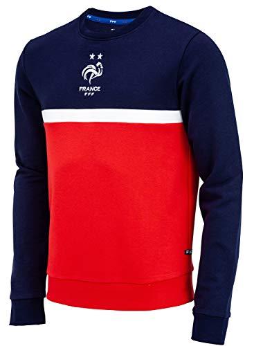 Frankreich Fußballnationalmannschaft Sweatshirt FFF, offizielle Kollektion, Herrengröße L blau