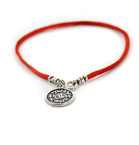 Amuleto contra mal ojo pulsera color rojo chico