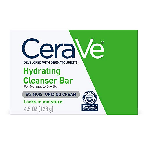 CeraVe Hydrating Cleanser Bar | 4.5 Ounce | Soap-Free Body and Face Cleanser Bar | Fragrance Free and Non-Irritating