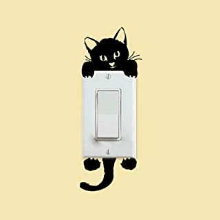 DIY Funny Cute Cat Switch Stickers Wall Stickers Home Decoration Bedroom Parlor Decoration Sticker on The Wall 4pcs