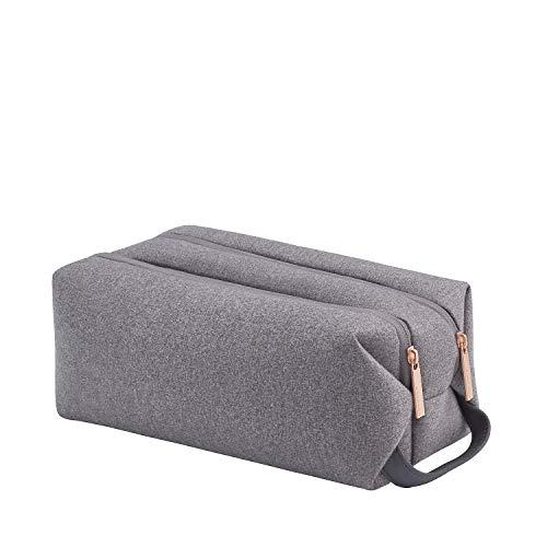 TITAN Kulturtasche Handgepäck mit wasserabweisender Oberfläche, Gepäck Serie BARBARA: Exklusive Toilet Bag im eleganten Look, 383704-04, 27 cm, 5 Liter, grey (grau)