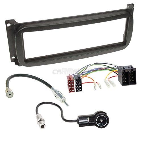Dodge Viper 03-10 1-DIN autoradio inbouwset in originele Plug&Play kwaliteit met antenneadapter, radioaansluitkabel, accessoires en radiofront/inbouwframe zwart