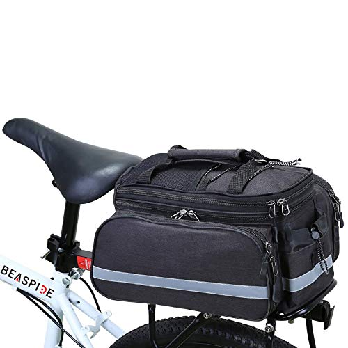Beaspire Pannier Bag, Waterproof Bike Bag for Bike Rear Seat with Shoulder Strap,10-25 L Scalable Capacity, for Commute, Travel and Picnic