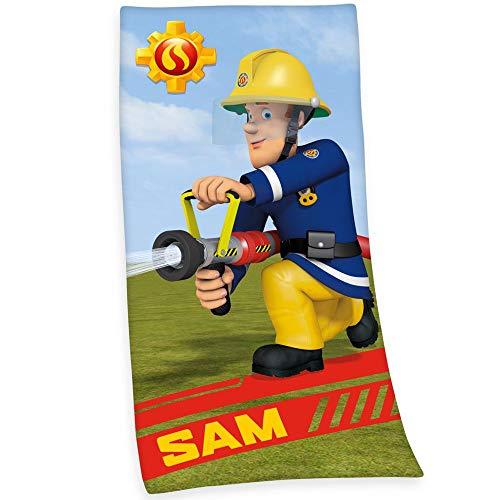 Feuerwehrmann Sam Badetuch 75 x 150 cm | Strandtuch | Handtuch Strandlaken