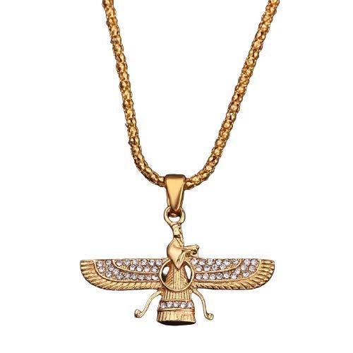 Ya Hero Ya Mero Faravahar Farohar Forouhar Zartoşt Zerdeşt Zerdüşt Zartuscht Farvahar - Zoroastrismus Amulett Zartost Zerdest Zerdüst Azadi Halskette Kette