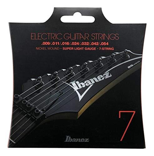 Ibanez IEGS7 - Cuerdas para guitarra eléctrica (7 cuerdas, muy ligeras, 9-54)