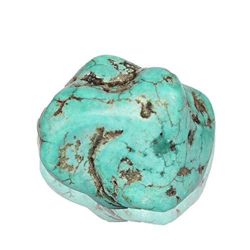 Real Gems 139,00 Quilates de Piedras Preciosas Naturales en Bruto de Turquesa Azul Natural certificada, Piedra Suelta de Turquesa para joyería