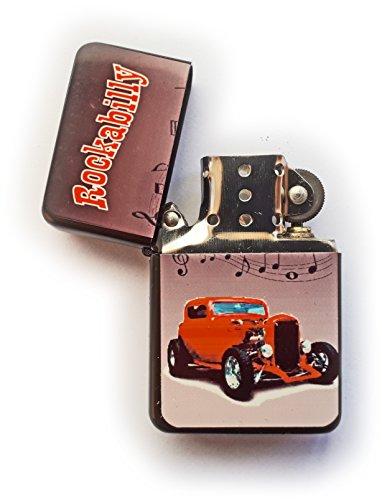Stoneys distintivi Rockabilly Rock And Roll Hot Rod Accendino a Benzina in Stile Anni '1950