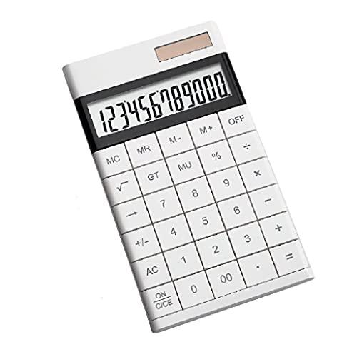 THHN Calculadora científica de Doble Potencia, Mini calculadora multifunción de Tableta de Pantalla Grande portátil, Adecuada for Estudiantes Contables (Color : White, tamaño : 6.7inchs)