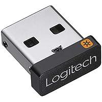 Logitech Receptor USB Unifying, Tecnología Inalámbrica 2,4 GHz, Compatible con Puerto USB y Todos los Dispositivos Unifying como Ratón Inalámbrico y Teclado, PC/Mac/Portátil , Negro