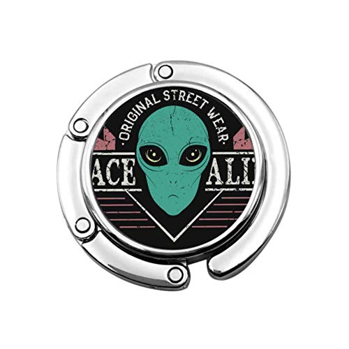 Space Alien Head Prints Design Tshirt Street Style Colgador de múltiples monederos...