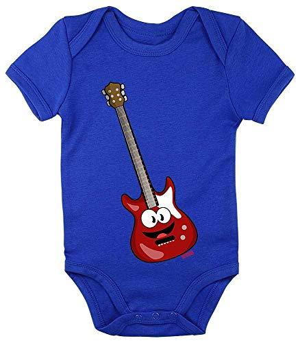 Hariz - Body para bebé, manga corta, guitarra eléctrica, instrumento de sonrisa...