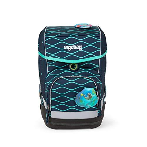 ergobag cubo Set - ergonomischer Schulrucksack, Set 5-teilig - BlubbBär - Blau