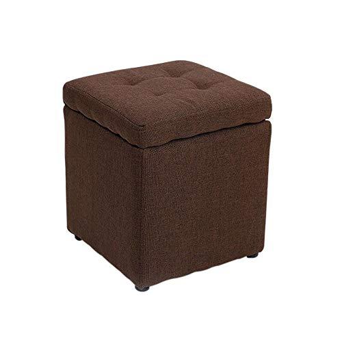 Repose-Pieds Ménage Tabouret Linge Hauteur 35 × Largeur 30cm GW (Couleur : Brown)