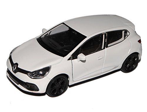 Welly Renault Clio IV Weiss 5 Türer Typ X98 Ab 2012 ca 1/43 1/36-1/46 Modell Auto mit individiuellem Wunschkennzeichen