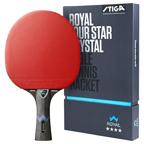 STIGA Royal 4 Sterne Tischtennis Schläger, Schwarz/Rot