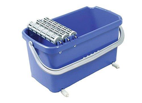 Waschsystem MAXIMO Profi SET 2 23 l Metallachsen mit 3 Waschwalzen, 2 Laufrollen, 1 Hydro-Rasterschwammbrett Flieseneimer Fliesenreinigung Fliesen-Waschset Wascheimer Fliesenwascheimer