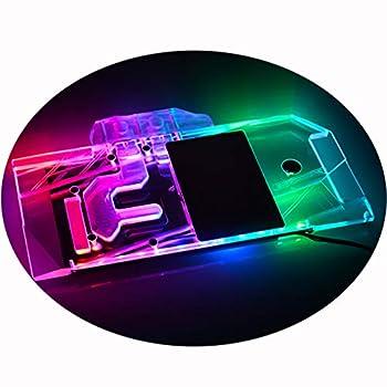 Bykski GPU Liquid Cooler Copper Waterblock G1/4 Full Cover PC Water Cooling Watercooling Block for Graphics Card EVGA Nvidia GeForce RTX 2080 Ti Kingpin 5V 3PIN G1/4 Threads RGB Remote Control