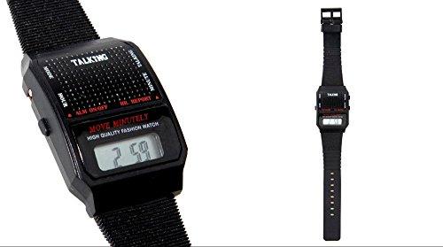 Reloj Pulsera con Voz para Ciegos / Baja Vision Rectangular