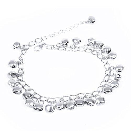 Katigan Silver Tone Jingle Bells Anklet Ankle Bracelet Link 8mm HOT