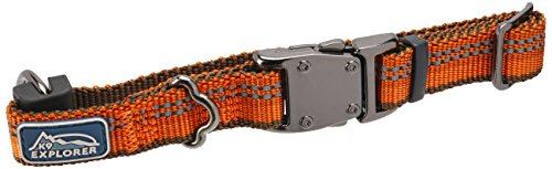 Coastal Pet K9 Explorer Reflective Adjustable Dog Collar X-Small, 8' to 12' by 5/8', Campfire Orange Color (1-Unit)
