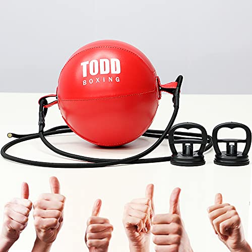 FiTeau Durable Double End Bag - Train Strike & Reflex & Cardio Beginner Boxing MMA Speed Ball - Easy to Set up and Train Immediately Punching Bag