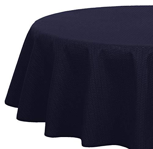 Brandsseller - Gartentischdecke geschäumt - wetterfeste und rutschfeste Tischdecke für Garten Balkon und Camping (Oval 160x220 cm, Blau)