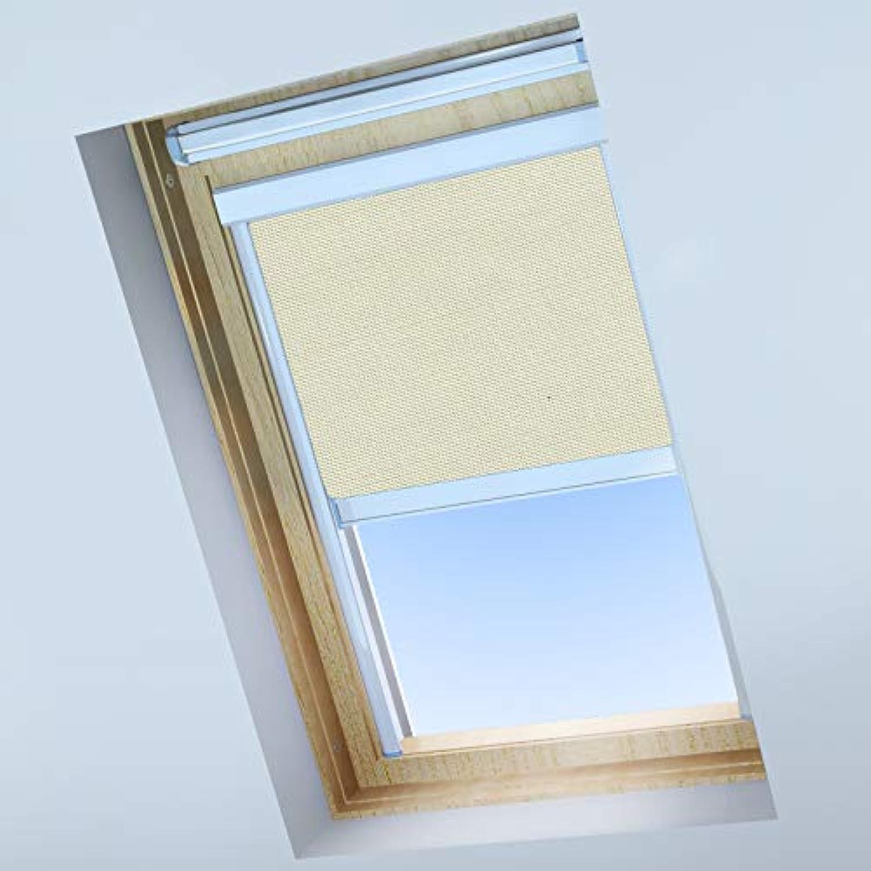 nuevo listado Classic Roof Roof Roof Blinds Skylight - Estor para Ventanas de Techo Velux – Estor Opaco – Crema Antigua – Marco de Aluminio Plateado, F04  compra limitada