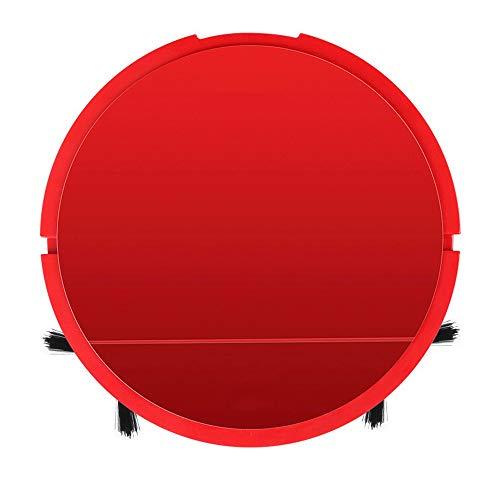 Ys-s Shop-Anpassung Mini Haushaltsstaubsauger mit Akku automatischem Kehr Roboter, faul intelligentem Staubsauger for Haushaltsgeräte, effiziente Absaugung, gründlichere Reinigung, (Color : Red)