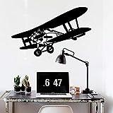 Arte Etiqueta de Vinilo Biplano Avión Cielo Vuelo Bebé Niños Diseño Etiqueta de La Pared Sala de estar Arte Avión Murales DIY Decoración Para El Hogar 42 * 83 cm