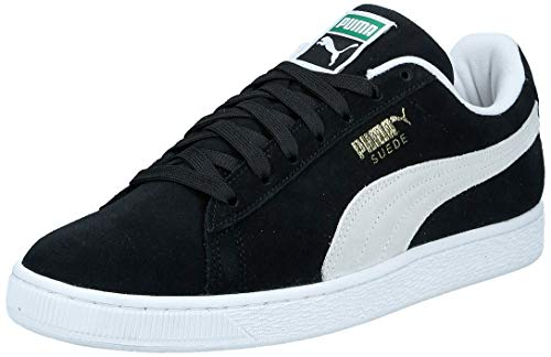 Puma Unisex-Erwachsene Suede Classic+ SNK Sneaker, Schwarz (Black-White), 41 EU