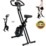 Exercise Bike - ​Folding Indoor Fitness Equipment - Magnetic Stationary Upright Gym Cycle ​and​ Foldable Trainer ​for ​Home Workout ​and​ Cardio