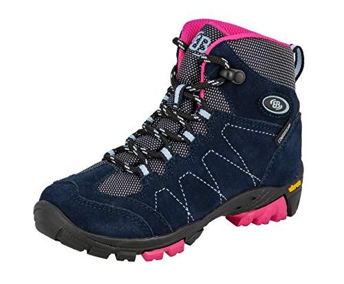 Brütting Unisex dziecięce buty trekkingowe wysokie, niebieski - Blau Marine Pink Blau - 36 EU