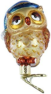 Old World Christmas Ornaments: Sleepy Owl Glass Blown Ornaments for Christmas Tree