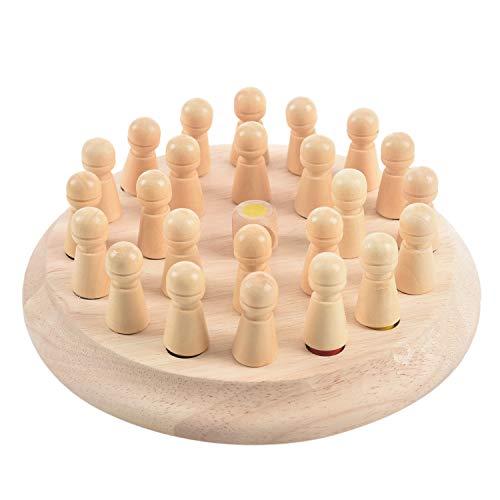 TOOGOO 1 Juego Juego de ajedrez Palo de Partido de Memoria de Madera Rompecabezas 3D Educativo temprano de ninos Rompecabezas Juego Informal de Fiesta Familiar