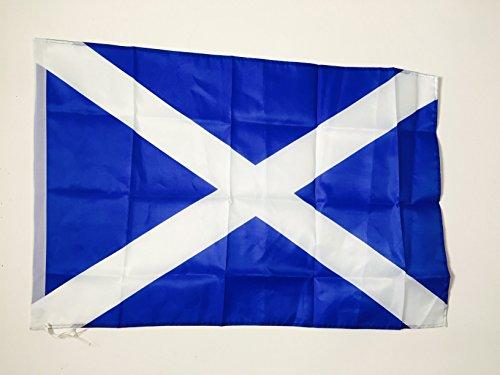 AZ FLAG Flagge SCHOTTLAND 90x60cm - Schottische Fahne 60 x 90 cm Scheide für Mast - freiner Polyester flaggen