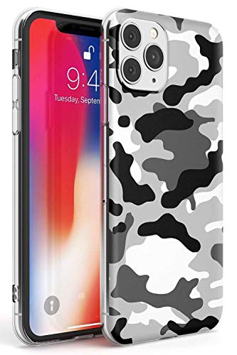 Rar Stampa Leopardata Bianco Custodia in Gomma per iPhone 11 PRO