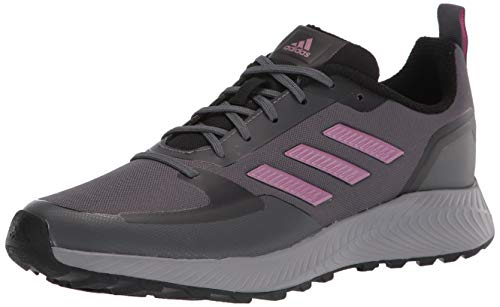 adidas Women's Runfalcon 2.0 Trail Running Shoe, Grey/Cherry Metallic/Grey, 10.5