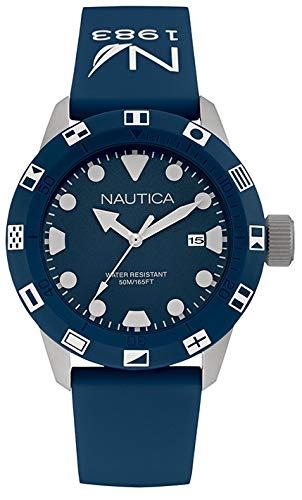 Nautica Reloj Analogico para Hombre de Cuarzo con Correa en Caucho NAI09511G