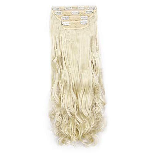 REECHO 24' Curly Wavy 4 Pieces Set Clip in on Hair...