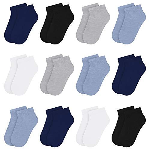 Libella 12er Kinder Jungen Sneaker Socken Kids Füßlinge Sneakersocken bunt 2116 31-34
