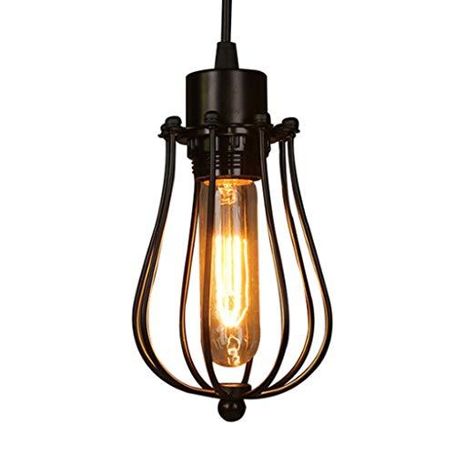 YUTRD ZCJUX Araña de Jaula Vintage ático Comedor Dormitorio Colgante iluminación LED lámpara de Arte de Hierro para el hogar Vintage