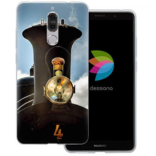 dessana Locomotief spoorweg transparante beschermhoes mobiele telefoon case cover tas voor Huawei, Huawei Mate 9, Lok open haard